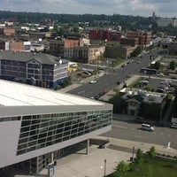 Photo taken at DoubleTree by Hilton Hotel Spokane City Center by James C. on 7/14/2012