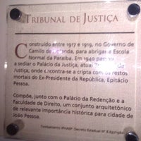 Photo taken at Tribunal de Justiça da Paraíba by Hugo V. on 4/27/2011
