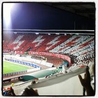 """Photo taken at Stadion """"Rajko Mitić"""" by Milan M. on 8/24/2012"""