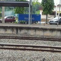 Photo taken at KTM Line - Kajang Station (KB06) by Erin Z. on 7/9/2012