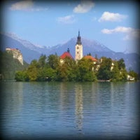 Photo taken at Blejsko Jezero / Lake Bled by Gianpaolo T. on 8/24/2011