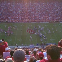 Photo taken at Gaylord Family Oklahoma Memorial Stadium by Jeremy P. on 9/3/2011