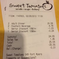 Photo taken at Sweet Tomatoes by Thomas W. on 2/28/2012