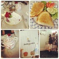 Photo taken at The Secret Garden Tea Cafe & Gift Shoppe by Jane K. on 9/13/2012