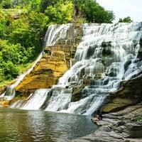 Photo taken at Ithaca Falls by Chris M. on 8/26/2011