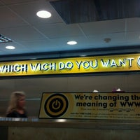 Photo taken at Which Wich? Superior Sandwiches by Grava on 12/31/2011