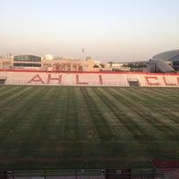 Photo taken at Al Ahli Club by Ibrahim E. on 8/4/2012
