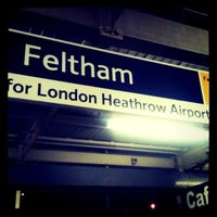 Photo taken at Feltham Railway Station (FEL) by Becca M. on 3/21/2011