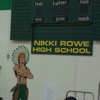 Photo taken at Nikki Rowe High School by Stef ツ. on 9/10/2011