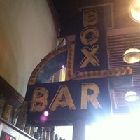 Photo taken at The Box Bar & Grill by Abrebsta on 3/24/2012