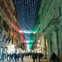 Photo taken at Via del Corso by Simone A. on 12/22/2011