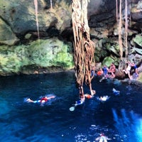 Photo taken at Los Tres Cenotes Cuzamá by Eduardo M. on 5/10/2012