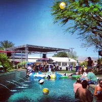 Photo taken at KROQ Coachella House 2012 by Jeanne H. on 4/20/2012