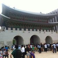 Photo taken at Gwanghwamun by SeungEok C. on 9/2/2012
