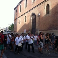 Photo taken at Plaça de la Muralla by Susana R. on 7/27/2012
