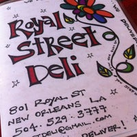 Photo taken at Royal Street Deli by Lindsey d. on 4/14/2012