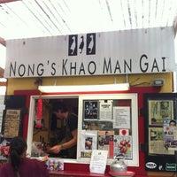Photo taken at Nong's Khao Man Gai by Jeff W. on 8/21/2012