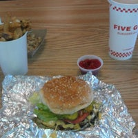 Photo taken at Five Guys by Jeff p. on 1/13/2012