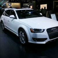 Photo taken at Audi Stand at Detroit Auto Show by Mike M. on 1/20/2012