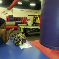 Photo taken at Bounce U by Amy W. on 9/1/2012