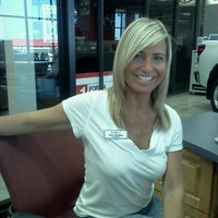Photo taken at San Marcos Toyota by Maria E. on 9/10/2011