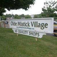 Photo taken at Olde Mystic Village by Jamie Y. on 6/2/2012