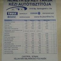 Photo taken at Németh és két Társa kézi autótisztítója by Krisztián S. on 11/23/2011