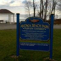 Photo taken at Avonia Beach by Josh C. on 12/24/2011