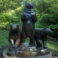 """Photo taken at Compton Gardens Bronze """"GROUP OF BEARS"""" by Drew F. on 5/2/2012"""