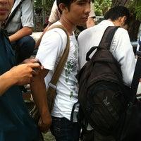 Photo taken at Halte Bis Unsri by Sigit B. on 11/9/2011