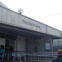 Photo taken at metro Pionerskaya by Светлана on 4/21/2012