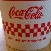 Photo taken at Five Guys by Christina M. on 9/6/2012