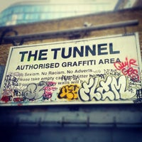 Photo taken at Leake Street Graffiti Tunnel by Rob S. on 6/13/2012