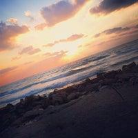 Photo taken at Leonardo Beach by Gil L. on 8/17/2012