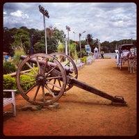 Photo taken at Bangalore Palace by Alexander P. on 6/21/2012