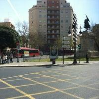 Photo taken at Plaça d'Espanya by Raúl D. on 3/17/2012