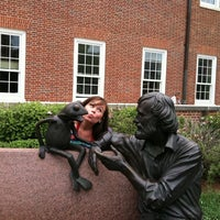 Photo taken at Jim Henson Statue by Lisa L. on 5/6/2012