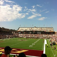 Photo taken at Alumni Stadium by Alonso H. on 9/1/2012