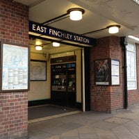 Photo taken at East Finchley London Underground Station by Kerim Can G. on 6/23/2012