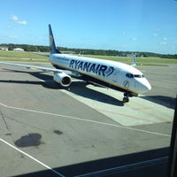 Photo taken at Moss Lufthavn, Rygge (RYG) by Landsspb G. on 8/29/2012