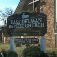 Photo taken at East Delavan Baptist Church by Tony S. on 3/11/2012