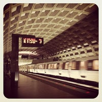 Photo taken at Crystal City Metro Station by Rachel C. on 8/19/2012