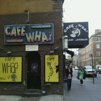 Photo taken at Cafe Wha? by Larissa O. on 2/27/2012