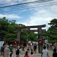 Photo taken at Hakozakigu Shrine by akokoako on 7/29/2012