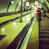 Photo taken at metro Ligovsky Prospekt by Dmitry Z. on 6/11/2012