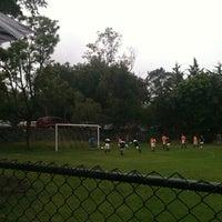 Photo taken at Pumitas C.U., Futbol A.C. by Pamela C. on 6/16/2012