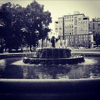 Photo taken at Bolotnaya Square by Andrew F. on 8/1/2012