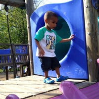 Photo taken at Frick Park Blue Slide Playground by Jayson W. on 5/6/2012
