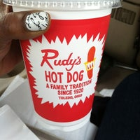 Photo taken at Rudy's Hot Dog by Nikki T. on 3/29/2012