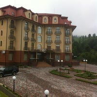 Photo taken at Grand Hotel «Pylypets» by Nasta S. on 7/1/2012
